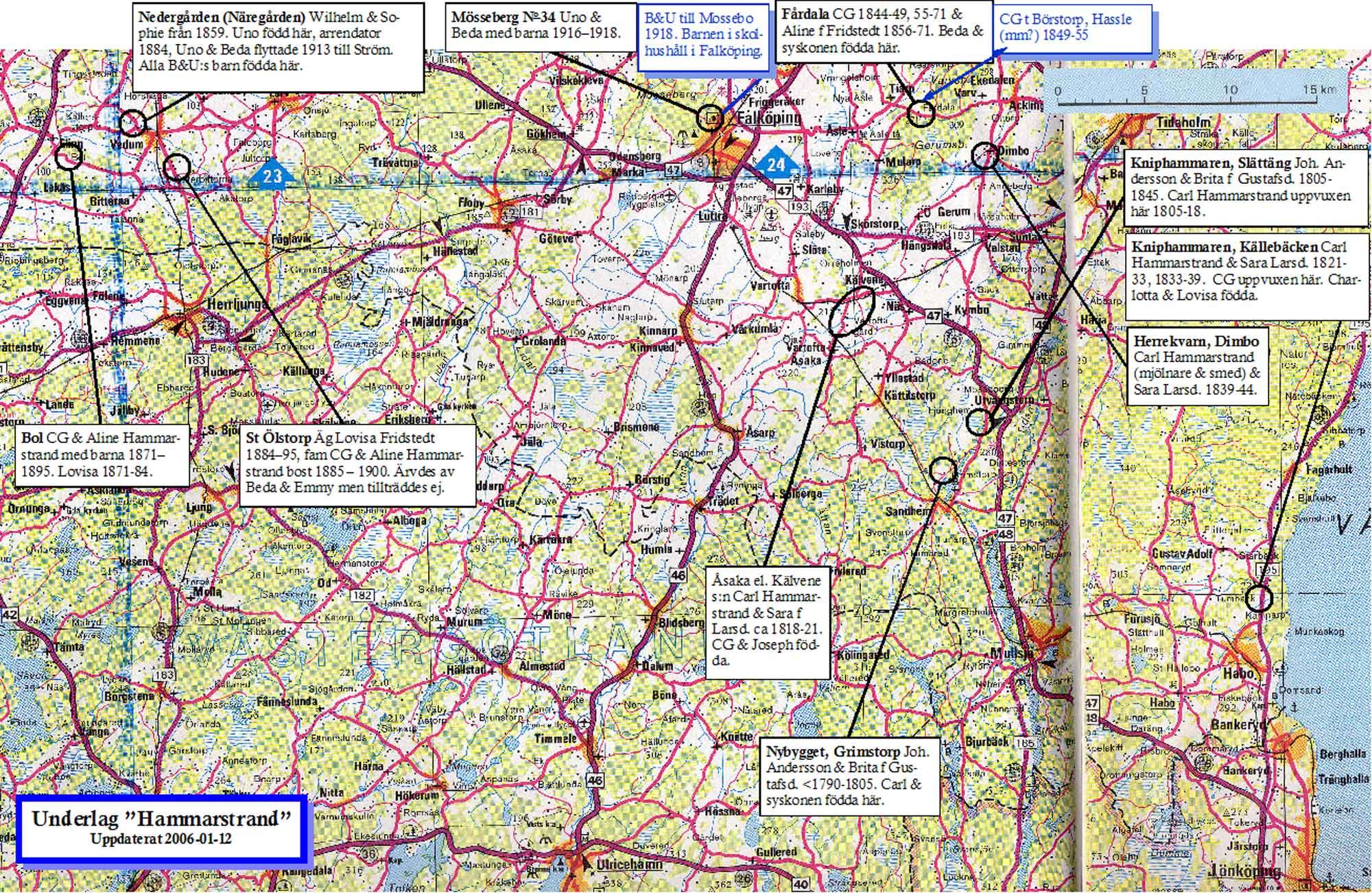 karta skaraborg Vara, Falköping karta skaraborg